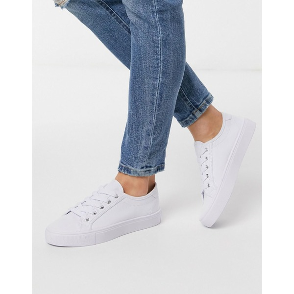 エイソス レディース スニーカー シューズ ASOS DESIGN Dizzy lace up sneakers in white White