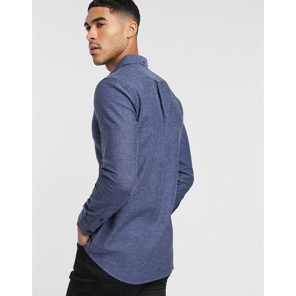 ファーラー メンズ シャツ トップス Farah Kreo slim long sleeve shirt Gray