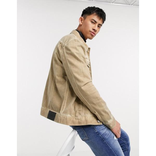 カルバンクライン メンズ ジャケット&ブルゾン アウター Calvin Klein essential trucker in bronx light Tan