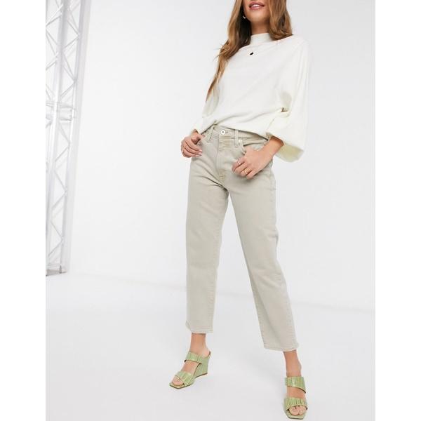リバーアイランド レディース デニムパンツ ボトムス River Island straight leg jeans in ecru Ecru