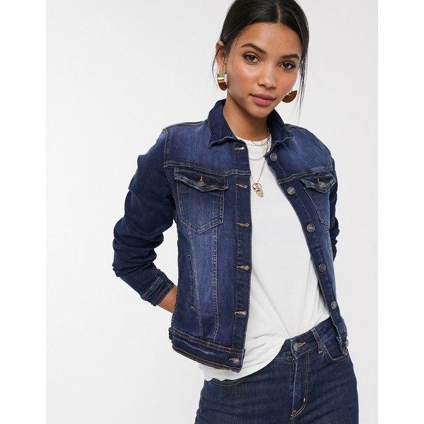 ビーヤング レディース ジャケット&ブルゾン アウター b. Young denim jacket Dark blue