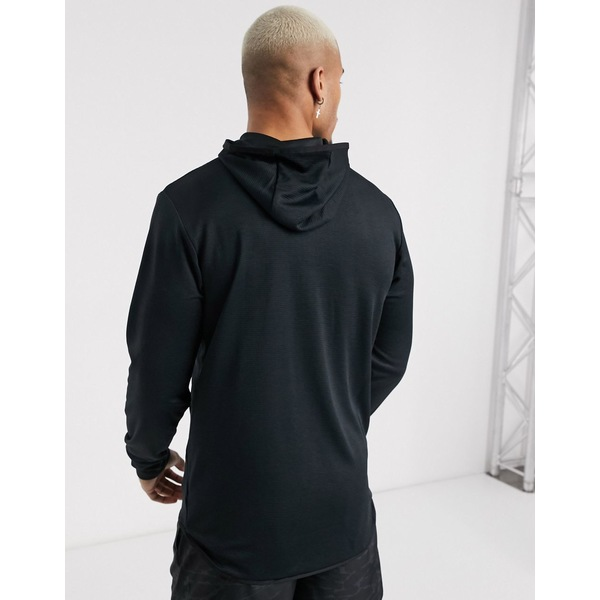 ニューバランス メンズ ジャケット ブルゾン アウター New Balance Running tenacity quarter zip hooded jacket in black BlackxBreWdQCo