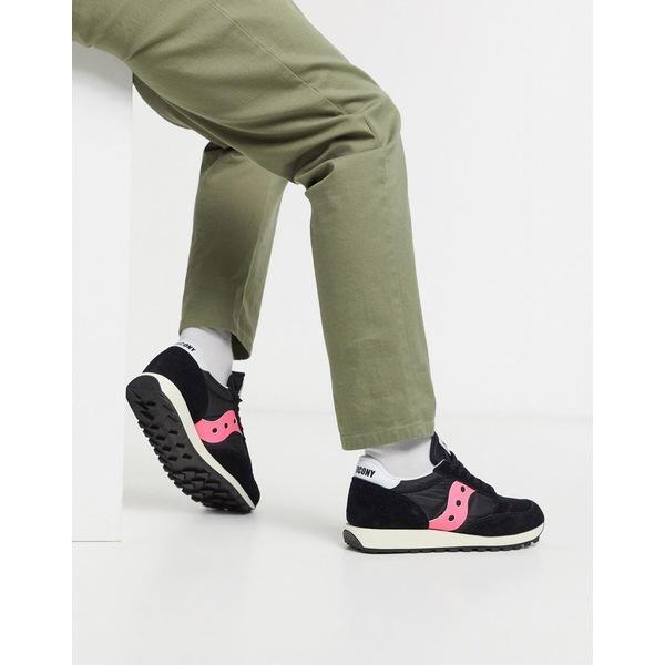 サッカニー メンズ スニーカー シューズ Saucony Jazz original vintage Sneaker Black/pink