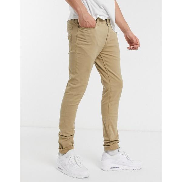 ジャック アンド ジョーンズ メンズ カジュアルパンツ ボトムス Jack & Jones Intelligence skinny fit 5 pocket pants in sand Kelp