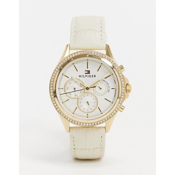 トミー ヒルフィガー レディース 腕時計 アクセサリー Tommy Hilfiger 1781982 cream strap watch Cream
