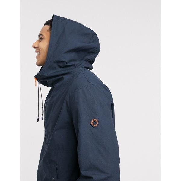エスプリ メンズ ジャケット&ブルゾン アウター Esprit windbreaker overhead jacket in dark blue Blue