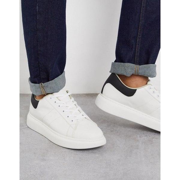 ジャック アンド ジョーンズ メンズ スニーカー シューズ Jack & Jones sneakers with chunky sole in white White