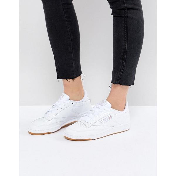 リーボック レディース スニーカー シューズ Reebok Club C sneakers in white and gum Chalk