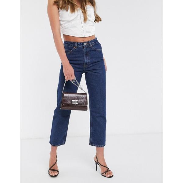 エイソス レディース デニムパンツ ボトムス ASOS DESIGN Recycled Florence authentic straight leg jeans in indigo French blue wash