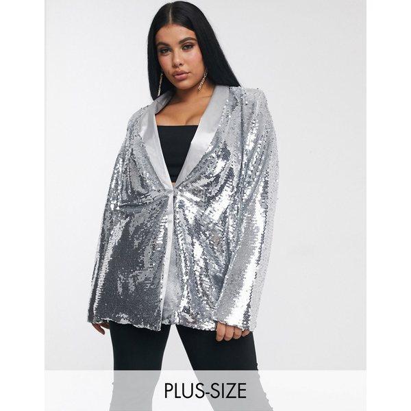 ユニーク21ヒーロー レディース ジャケット&ブルゾン アウター Unique 21 sequin blazer in silver Silver