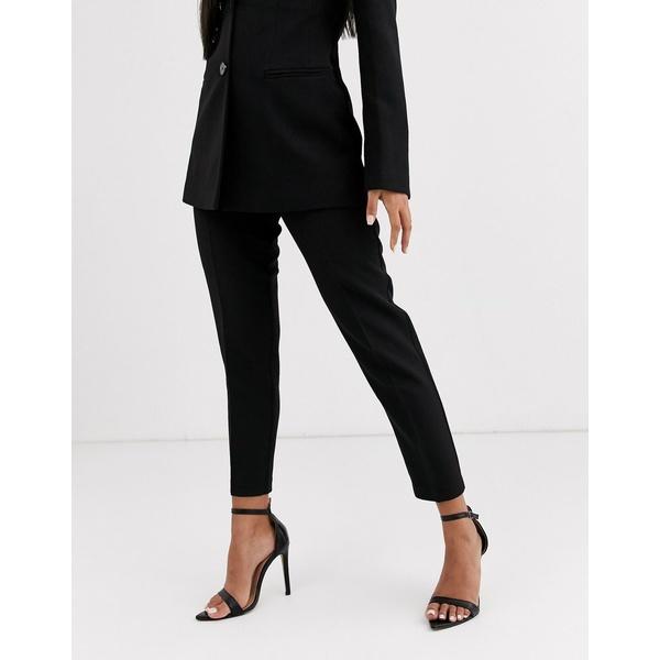 エイソス レディース カジュアルパンツ ボトムス ASOS DESIGN pop slim suit pants in black Black