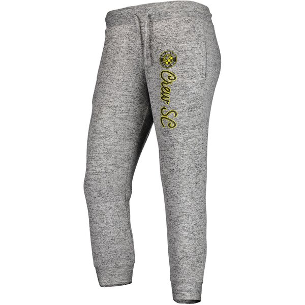 ファナティクス レディース カジュアルパンツ ボトムス Columbus Crew SC Fanatics Branded Women's Cozy Collection MLS Steadfast Crop Jogger Pant Heathered Gray