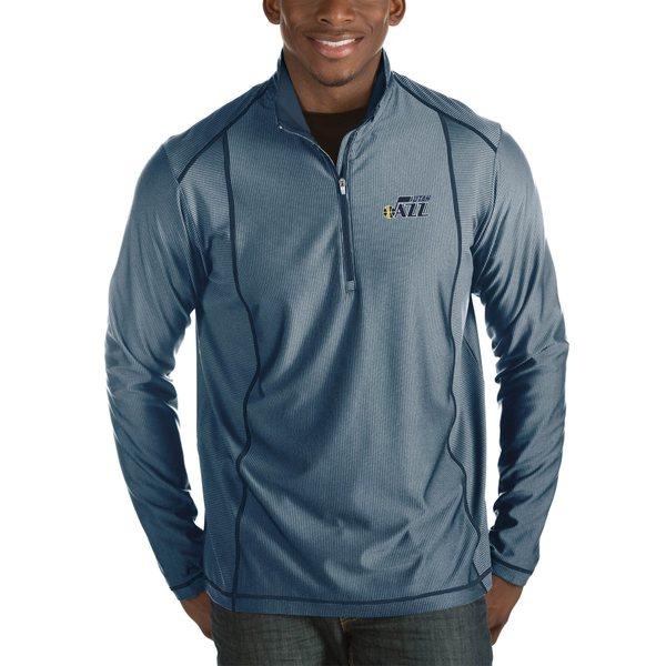アンティグア メンズ ジャケット&ブルゾン アウター Utah Jazz Antigua Tempo Big & Tall HalfZip Pullover Jacket Navy