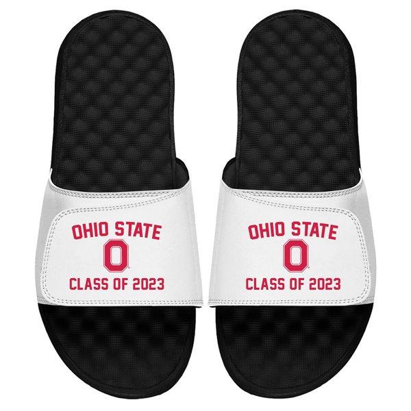 アイスライド メンズ サンダル シューズ Ohio State Buckeyes ISlide Class of 2023 Slide Sandals White