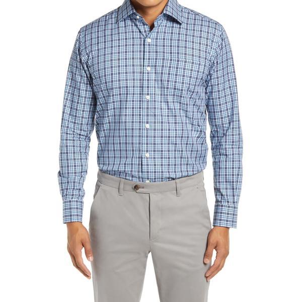ピーター・ミラー メンズ シャツ トップス Waccamaw Regular Fit Glen Plaid Button-Up Shirt City Blue