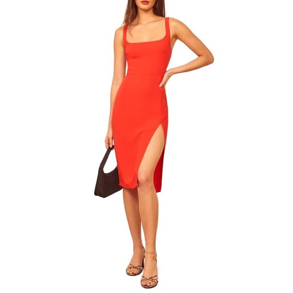 リフォメーション レディース ワンピース トップス Norton Sheath Dress Hot Day
