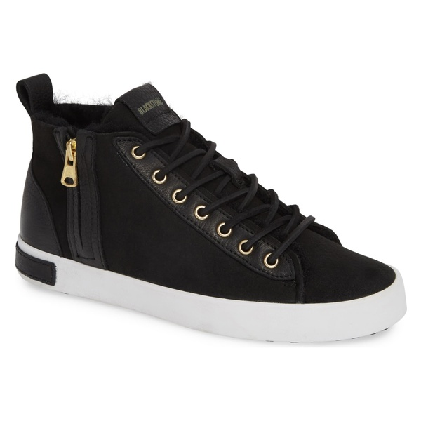ブラックストーン レディース スニーカー シューズ Blackstone QL47 Genuine Shearling Lined Sneaker (Women) Black Leather