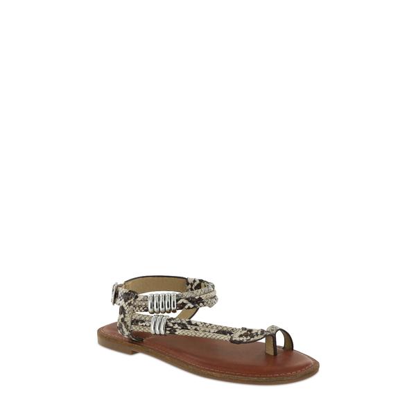 ミア レディース サンダル シューズ Julianna Ankle Strap Snake Embossed Sandal Beige Multi Faux Leather