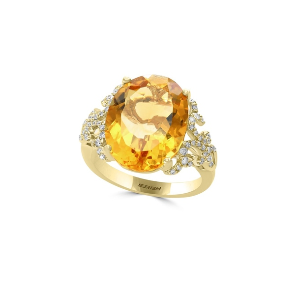 エフィー レディース リング アクセサリー Sunset Diamond, Citrine and 14K Yellow Gold Ring Gold