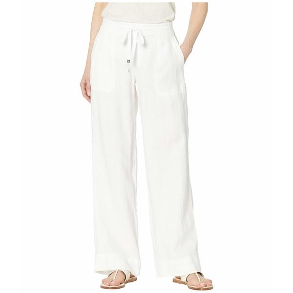 ラルフローレン レディース カジュアルパンツ ボトムス Linen Wide-Leg Pants White
