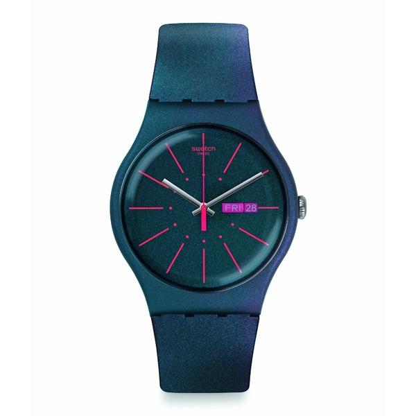 スワッチ レディース 腕時計 アクセサリー New Gentleman - SUON708 Blue