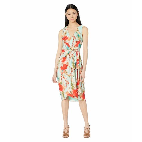 バッジェリーミシュカ レディース ワンピース トップス Sleeveless Aqua Print Runway Dress Aqua Multi