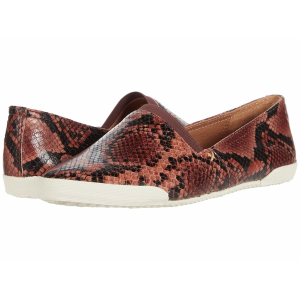 フライ レディース スニーカー シューズ Melanie Slip On Antique Rose Embossed Snakeskin Leather