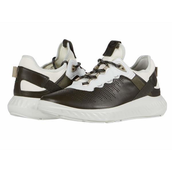 エコー メンズ スニーカー シューズ ST.1 Lite Sneaker Deep Forest/White