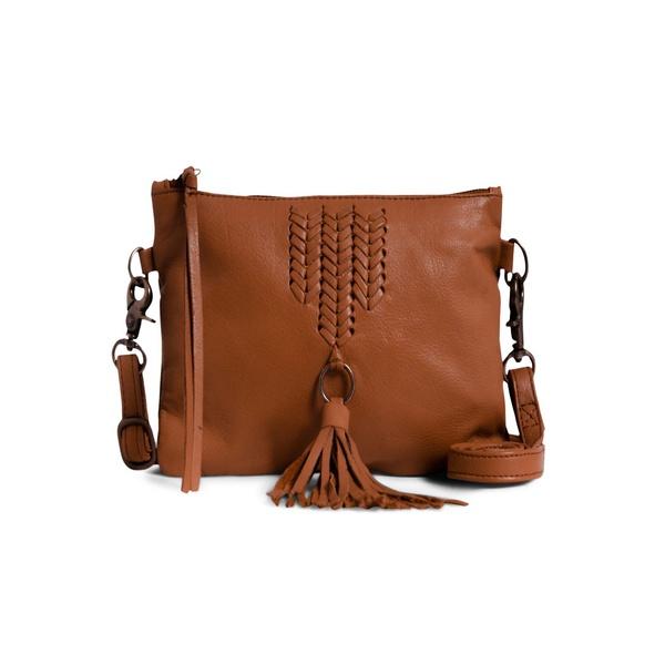 ダイアンドムード レディース ショルダーバッグ バッグ Faith Leather Crossbody Bag Cognac