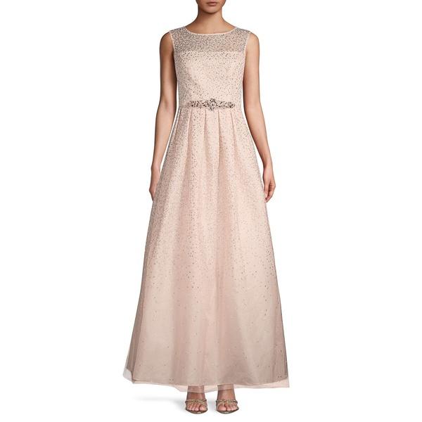エリザジェイ レディース ワンピース トップス Embellished Sleeveless Gown Blush
