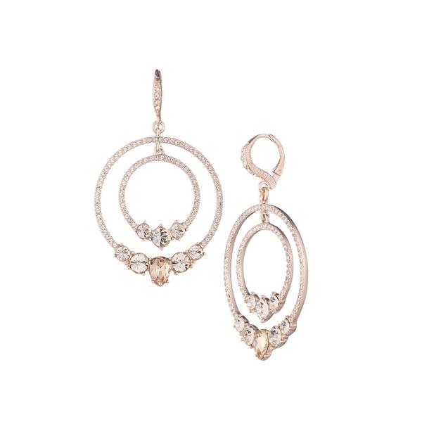ジバンシー レディース ピアス&イヤリング アクセサリー Rose Goldtone & Crystal Hoop Drop Earrings Rose Gold