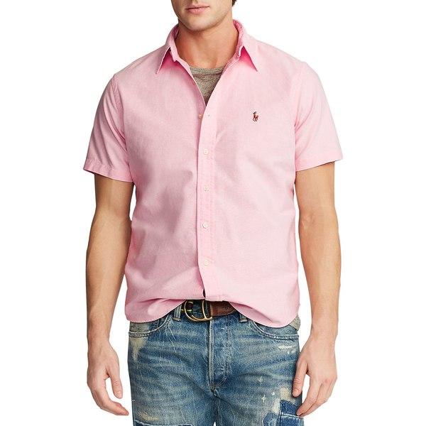 ラルフローレン メンズ シャツ トップス Short-Sleeve Logo Oxford Shirt Pink