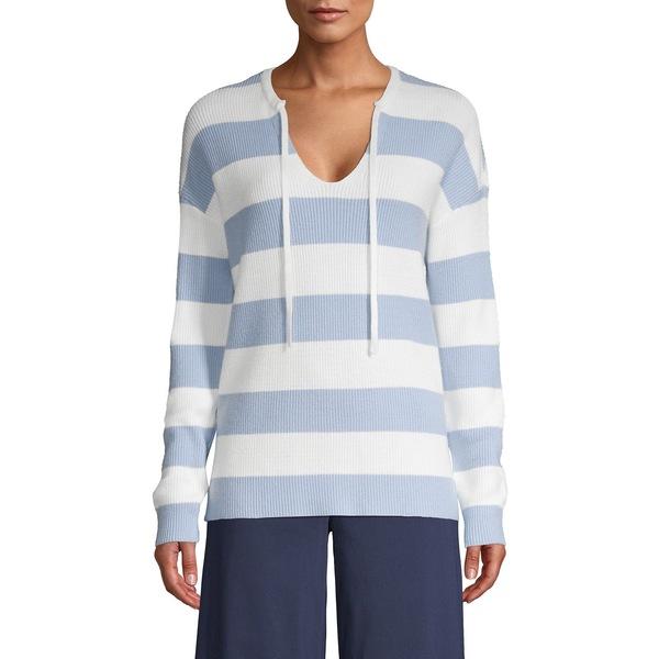 アイザック ミズラヒ レディース ニット&セーター アウター Colorblock Pullover Sweater Chalk Blue