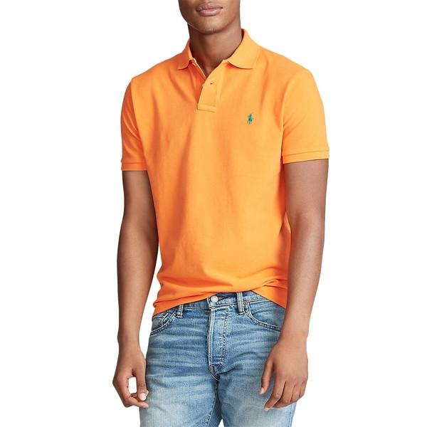 ラルフローレン メンズ シャツ トップス Custom Slim-Fit Mesh Polo Orange