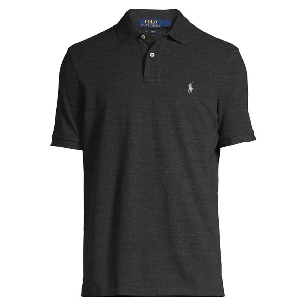 ラルフローレン メンズ シャツ トップス Custom Slim-Fit Mesh Polo New Black