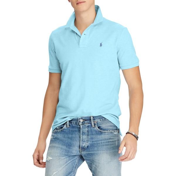 ラルフローレン メンズ シャツ トップス Custom Slim-Fit Mesh Polo Watch Hill Blue Heather