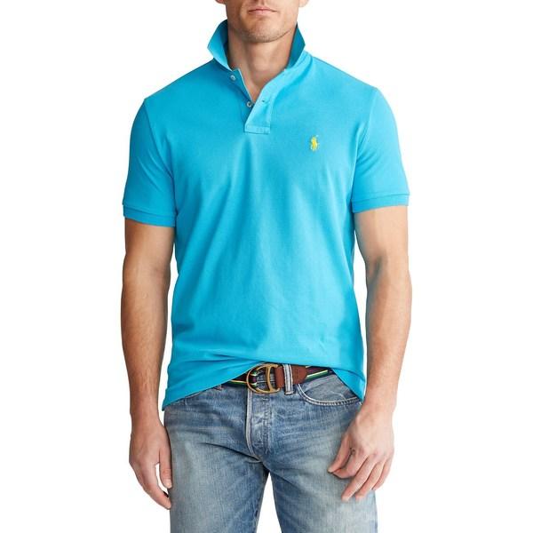 ラルフローレン メンズ シャツ トップス Custom Slim-Fit Mesh Polo Cove Blue