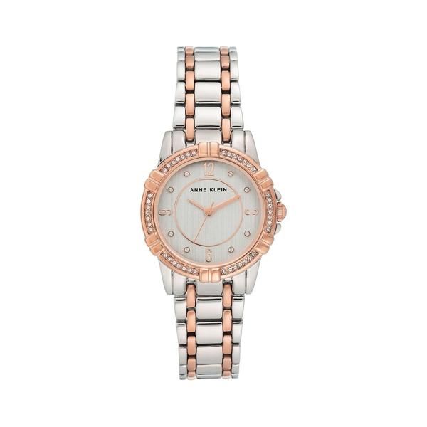 アンクライン レディース 腕時計 アクセサリー Two-Tone & Swarovski Crystal Bracelet Watch Silver