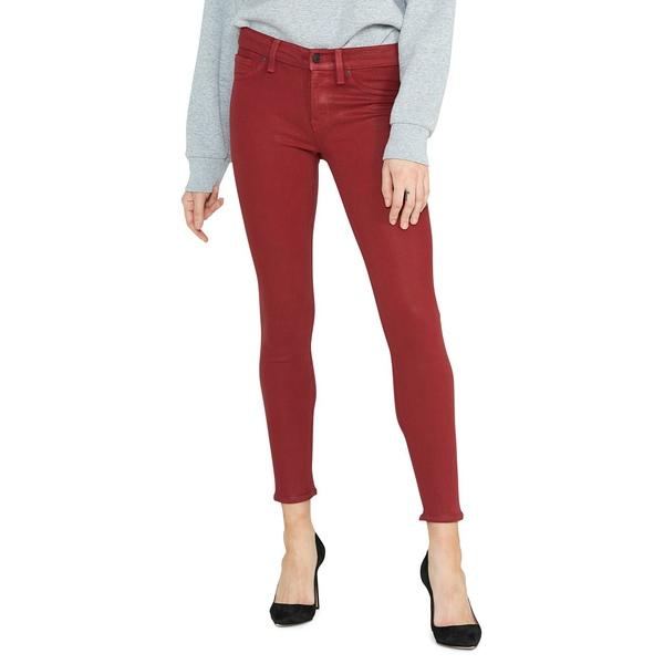 ハドソンジーンズ レディース デニムパンツ ボトムス Nico Twill Ankle Skinny Jeans Oxblood