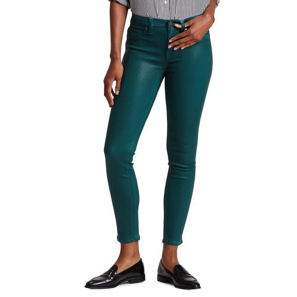 ハドソンジーンズ レディース デニムパンツ ボトムス Nico Twill Ankle Skinny Jeans Waxed Teal