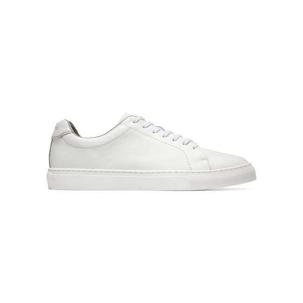 コールハーン メンズ スニーカー シューズ Grand Series Jensen Leather Low-Top Sneakers White