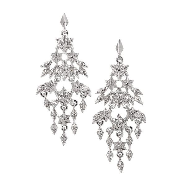 ヴィンスカムート レディース ピアス&イヤリング アクセサリー Petite Galactic Skies Silvertone & Crystal Chandelier Earrings Silver