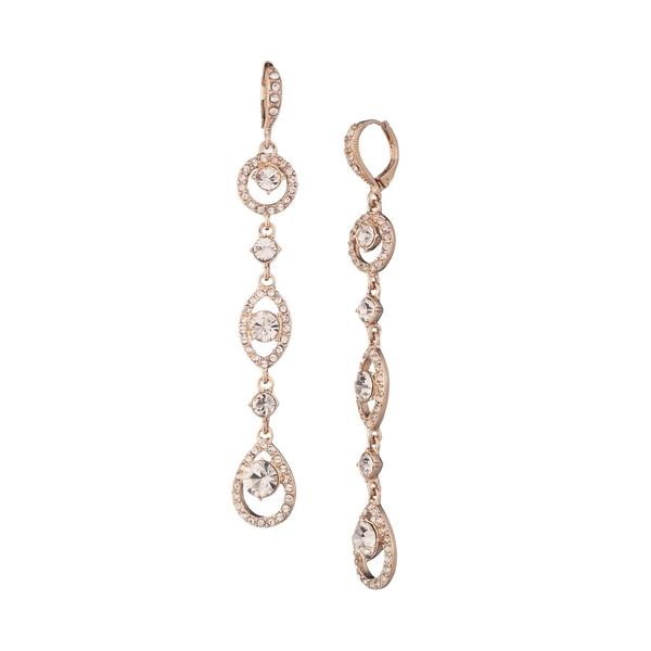 ジバンシー レディース ピアス&イヤリング アクセサリー Rose Goldplated and Crystal Linear Drop Earrings Rose Gold