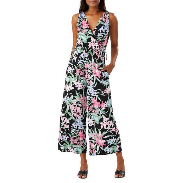 トッミーバハマ レディース ワンピース トップス Orchid Isle Sleeveless Wide-Leg Jumpsuit Black