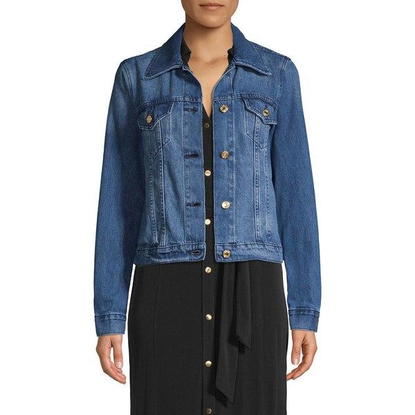 マイケルコース レディース コート アウター Riviera Denim Jacket Riviera Blue Wash