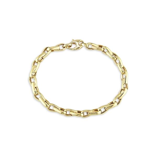 ソナティナ メンズ ネクタイ アクセサリー Men's 14K Yellow Gold Link Bracelet Gold
