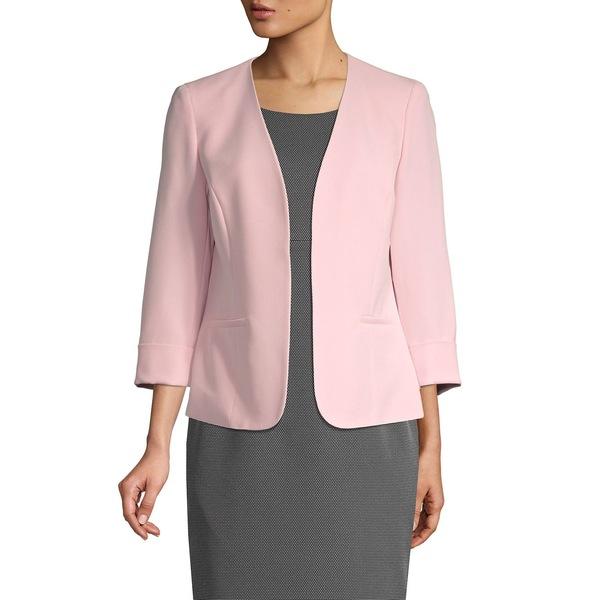 カスパー レディース コート アウター Three-Quarter Sleeve Open-Front Jacket Tutu Pink