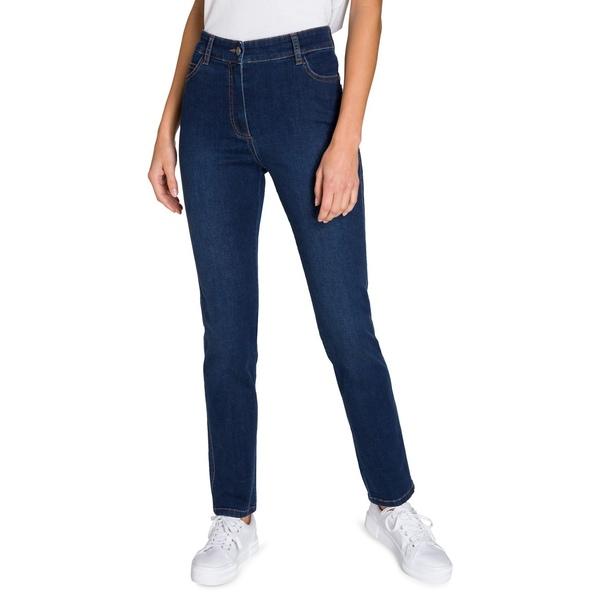 オルセン レディース デニムパンツ ボトムス Mona Slim-Leg Jeans Dark Denim