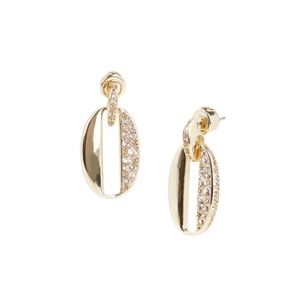 キャロリー レディース ピアス&イヤリング アクセサリー Goldtone and Glass Stone Pave Link Earrings Gold