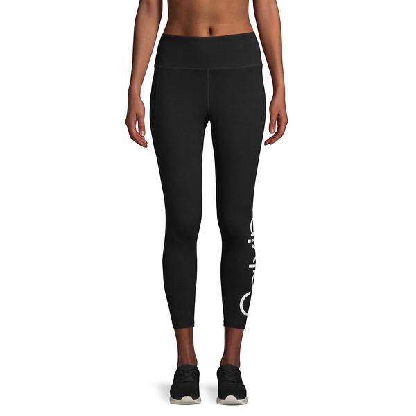 カルバンクライン レディース カジュアルパンツ ボトムス Stretch-Cotton Logo Leggings Black New Beige